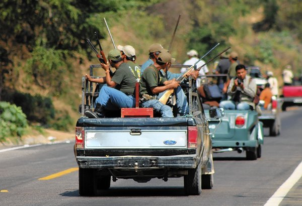 Autodefensas members in Guerrero, Mexico